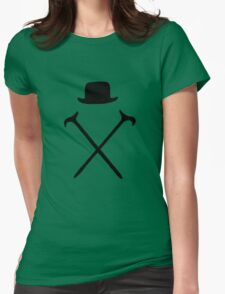 Bowler Hat and Canes T Shirt Womens Fitted T-Shirt