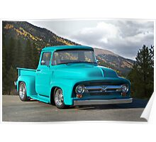1956 Ford F100 Custom Pick-Up Truck Poster
