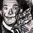 drawing of Salvador Dali by Followthedon