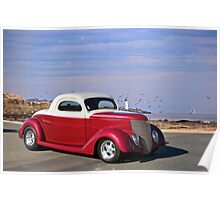 1937 Ford 'Chopped Top' Coupe Poster