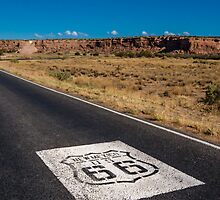 New Mexico US 66 Shield on Route 66, Laguna, NM by swtrekker