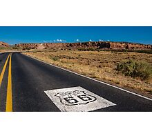 New Mexico US 66 Shield on Route 66, Laguna, NM Photographic Print
