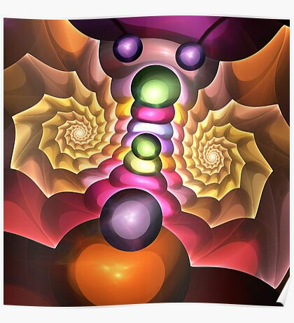 The Moth, Fractal Abstract artwork Poster