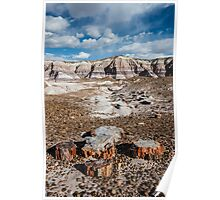 Blue Mesa, Petrified Forest National Park, on Route 66, AZ Poster