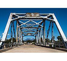 Walnut Creek Bridge and Mt. Taylor on Route 66, Winona, AZ Photographic Print