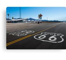 Route 66 Shield at Roy's Motel. Amboy, CA Canvas Print