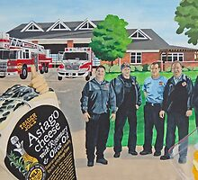 Mural - Fire Men House by AnnaAsche