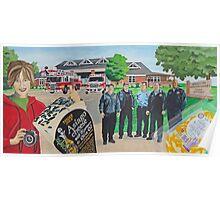 Mural - Fire Men House Poster