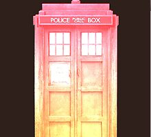 Pink Sunset Tardis by Kylieratto