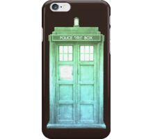 Green Sunset Tardis iPhone Case/Skin
