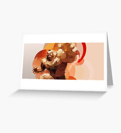 The Russian Wrestler Greeting Card