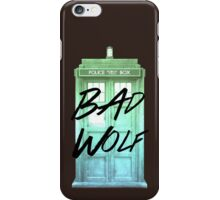 Bad Wolf Tardis iPhone Case/Skin