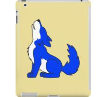 Blue Howling Wolf Pup iPad Case/Skin