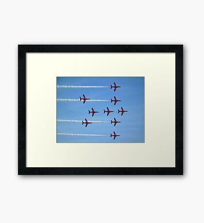 Red Arrows (Lancaster formation) Framed Print