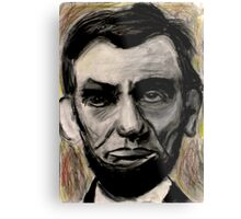 Abraham Lincoln Charcoal drawing Metal Print