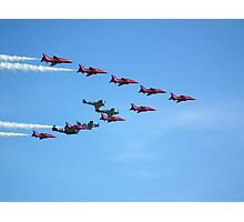 Red Arrows and The Eagle Squadron in formation.... Photographic Print