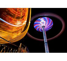 Amusement Park Ride Photographic Print