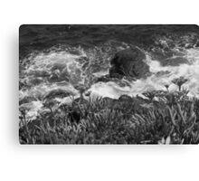 Wave versus Cliff. Canvas Print