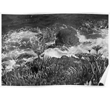 Wave versus Cliff. Poster