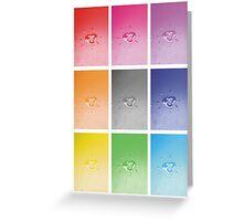 Wet heart - rainbow dash Greeting Card