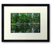 Boats in the stream Framed Print