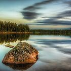Rocks in the lake by Stefan Johansson