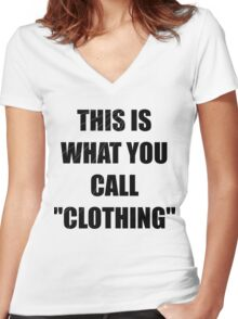 This is what you call: Clothing Women's Fitted V-Neck T-Shirt