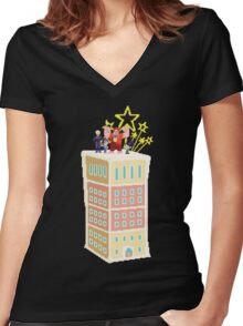 Wreck-It-Ralph's Cake Women's Fitted V-Neck T-Shirt
