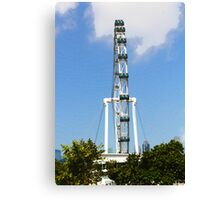 Oil Painting - Front view of wheel of the Singapore Flyer Canvas Print