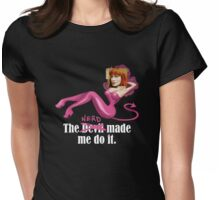 The nerd made me do it Womens Fitted T-Shirt