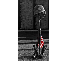 Vietnam Wall w/ Memorial Photographic Print