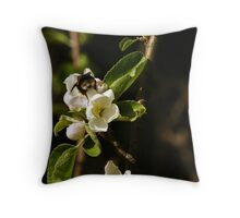 Bumblebee in fever Throw Pillow