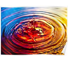 Multi-coloured Droplet Poster