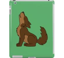 Brown Howling Wolf Pup iPad Case/Skin