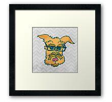 Mack The Cool Nerd Dog Framed Print