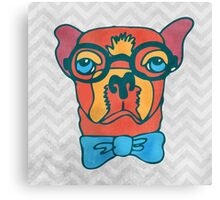 Bowdy Boxer the Handsome Asture Geek Dog Canvas Print