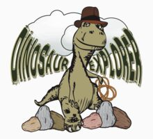 Cartoon Tyrannosaurus Dinosaur Explorer  by Gravityx9