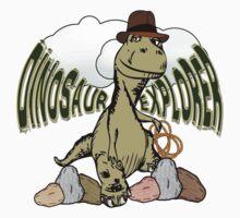 Cartoon Tyrannosaurus Dinosaur Explorer  by Gravityx9