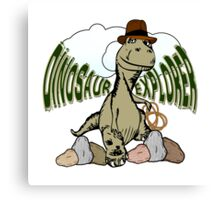 Cartoon Tyrannosaurus Dinosaur Explorer  Canvas Print