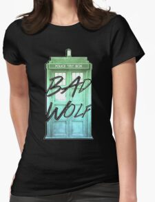 Bad Wolf Tardis Womens Fitted T-Shirt