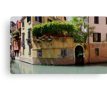 "Venice ""streetscape"". Canvas Print"