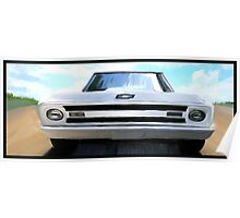 1969 Custom C10 Chevy - The Weather Man is Coming Poster