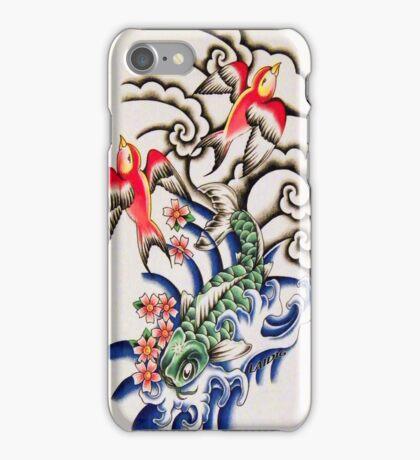 Koi Elements Tattoo Art iPhone Case/Skin