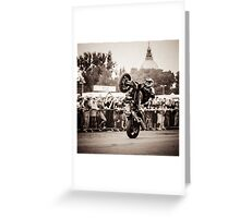motorcycle stunt 010 Greeting Card