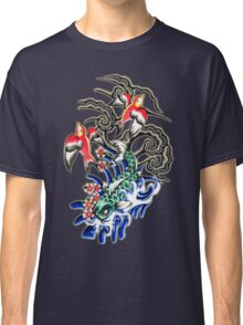 Glowing koi and sparrows Classic T-Shirt