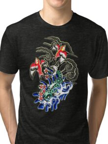 Glowing koi and sparrows Tri-blend T-Shirt