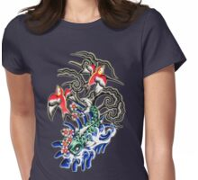 Glowing koi and sparrows Womens Fitted T-Shirt