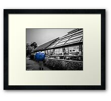 blue brolly Framed Print