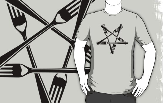 Fork Pentagram (black) by MysticIsland