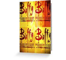 Buffy Logo Greeting Card